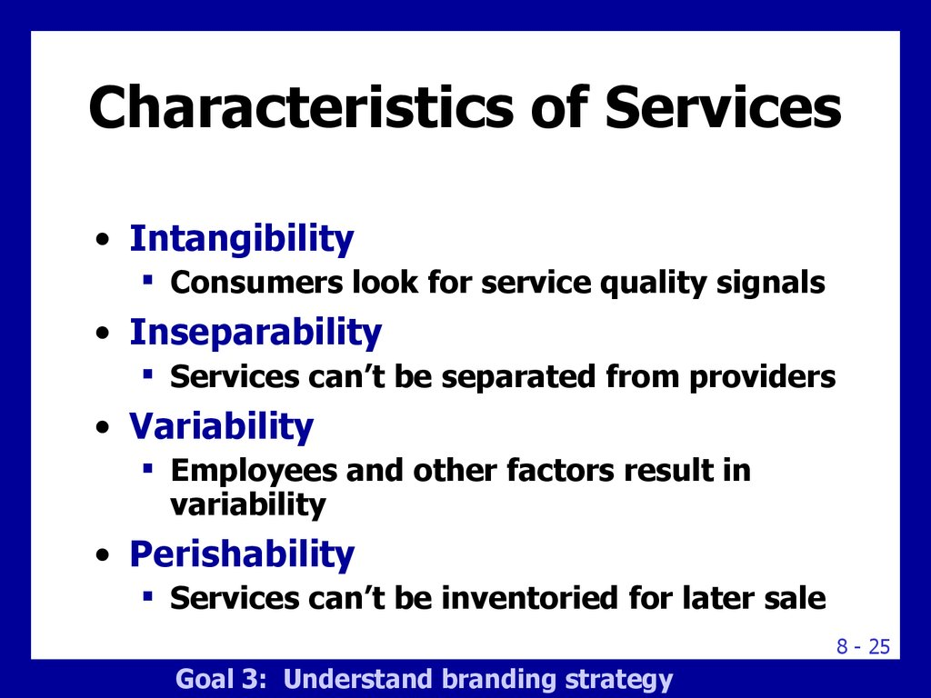 characteristics of service product Service demand has high degree of fluctuations the changes in demand can be seasonal or by weeks, days or even hours most of the services have peak demand in peak hours, normal demand and low demand on off-period time 3 intangibility: unlike product, service cannot be touched or sensed, tested or felt before they are availed a.
