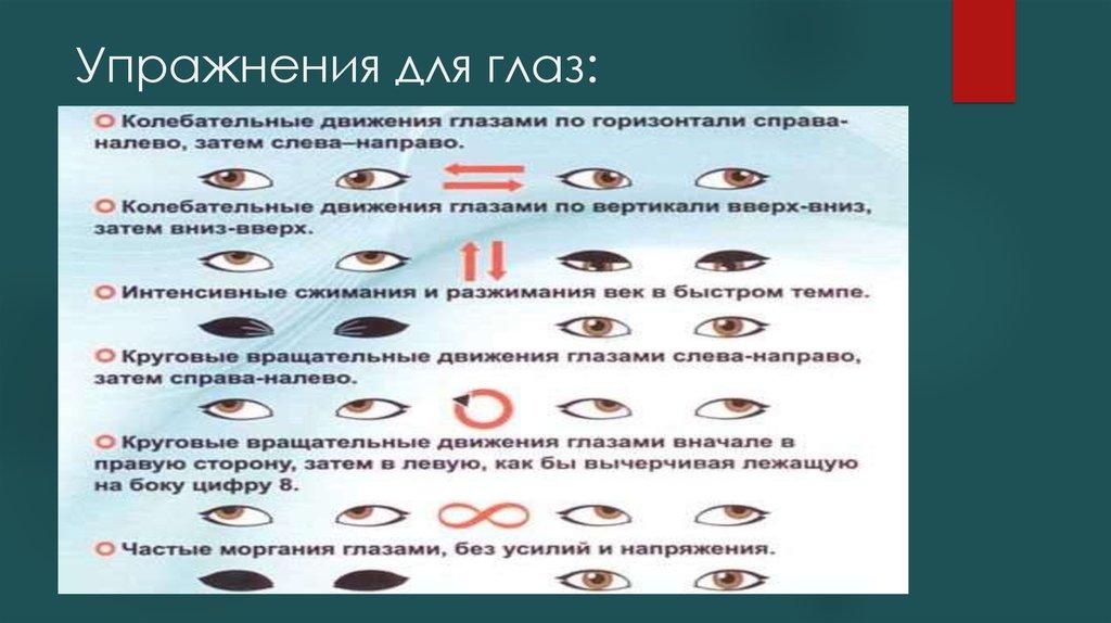 Гимнастика для глаз при глаукоме и катаракте