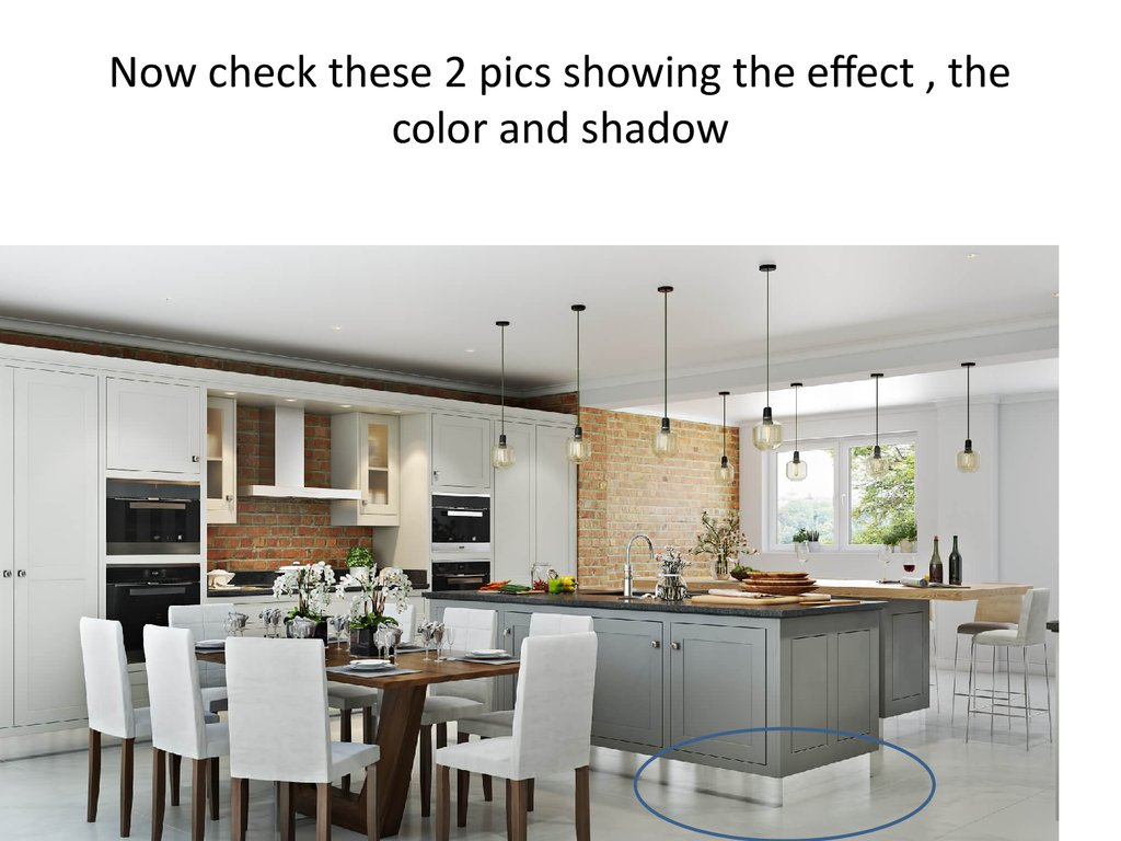 Now check these 2 pics showing the effect , the color and shadow