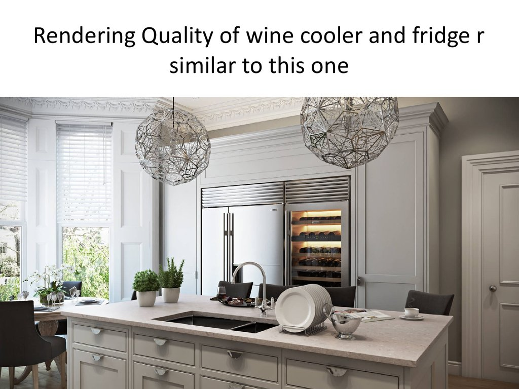 Rendering Quality of wine cooler and fridge r similar to this one