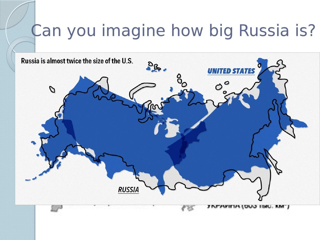 Can you imagine how big Russia is?