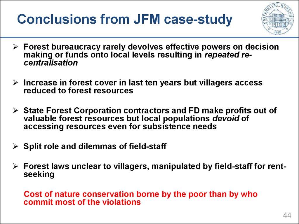 study case conclusion