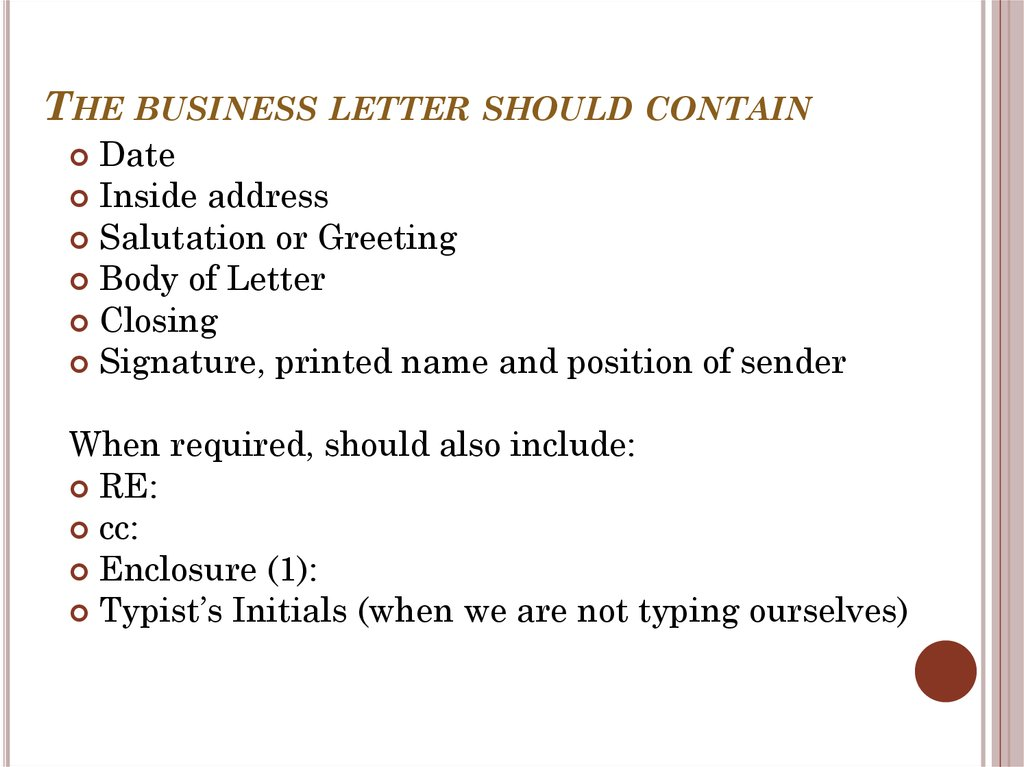 Business writing essentials online presentation the business letter should contain spiritdancerdesigns Choice Image