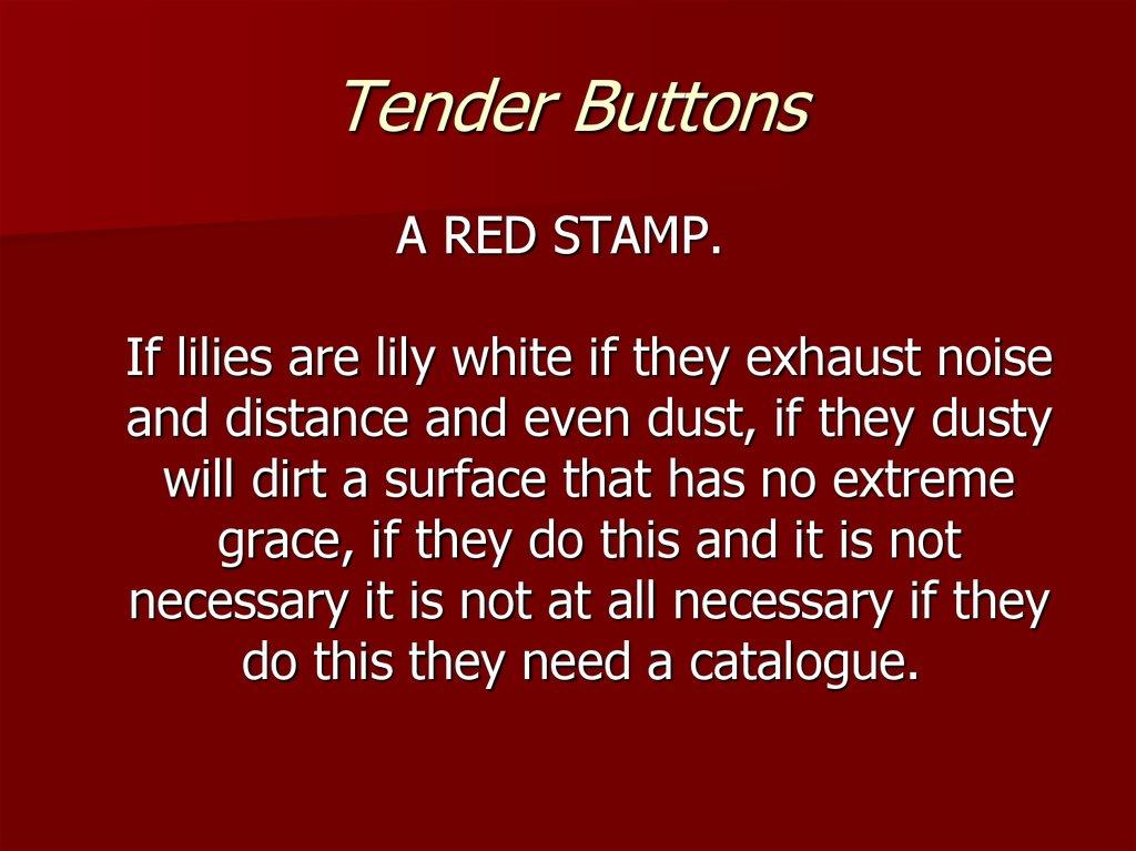 tender buttons online