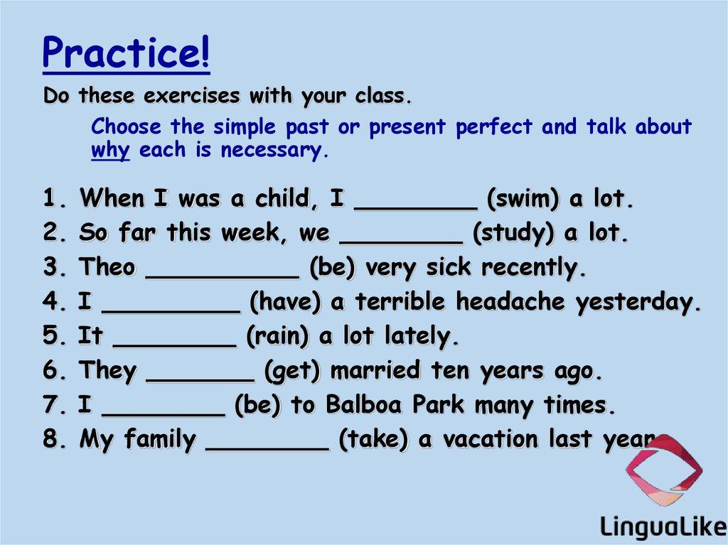Simple past vs  Present perfect  (lesson 3) - online