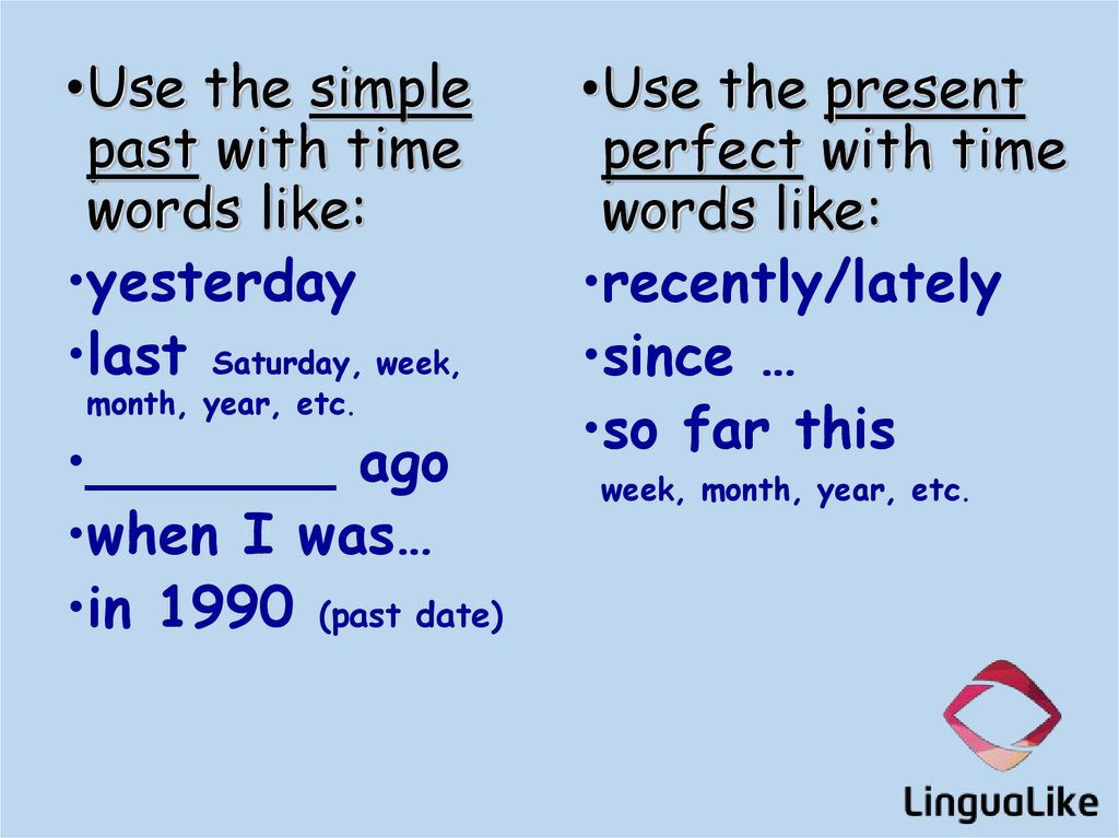 Past continuous tense rules