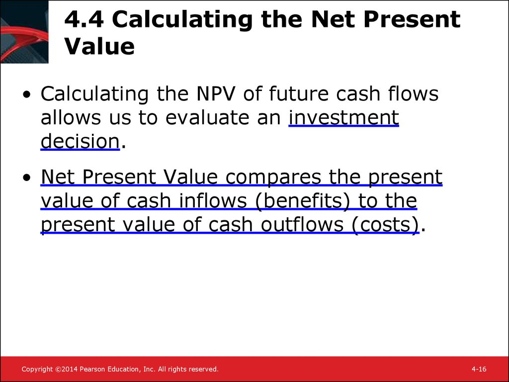 4.4 Calculating the Net Present Value