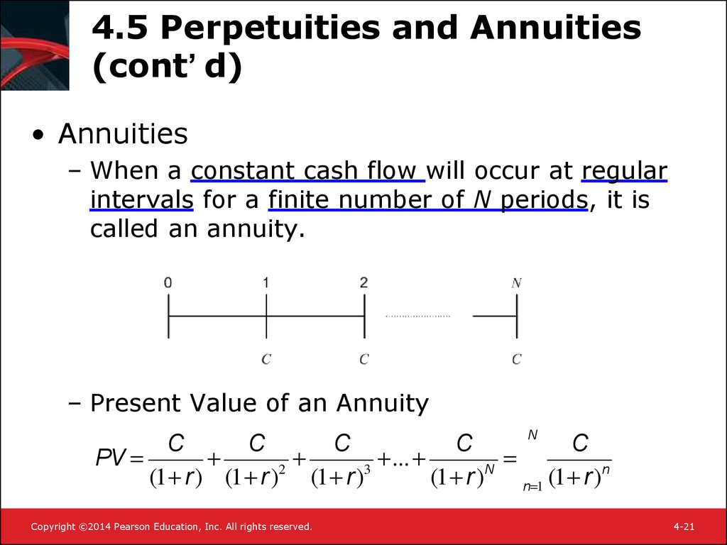 4.5 Perpetuities and Annuities (cont'd)