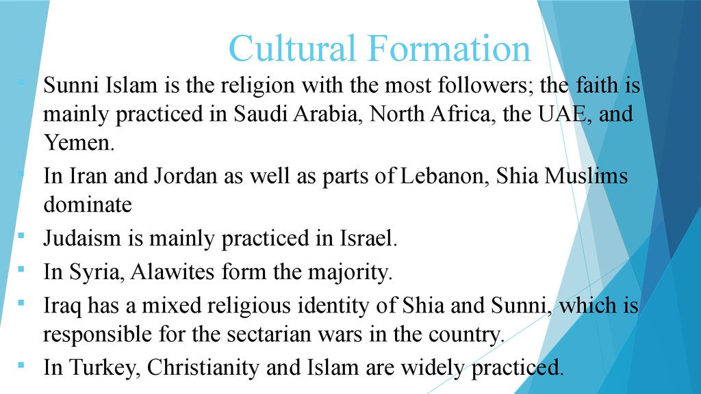 Cultural Formation