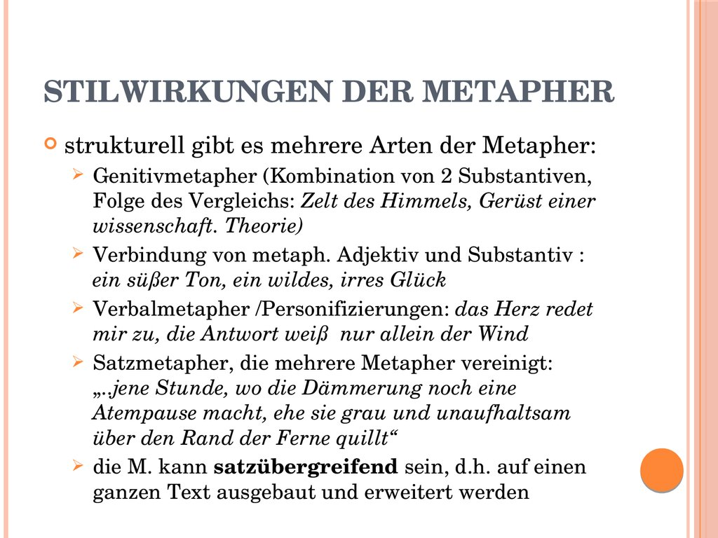 Stilwirkungen der Metapher