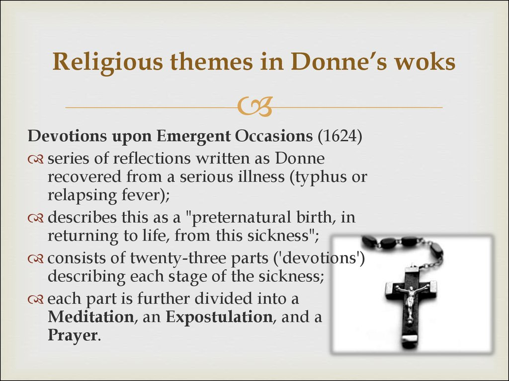 Religious themes in Donne's woks