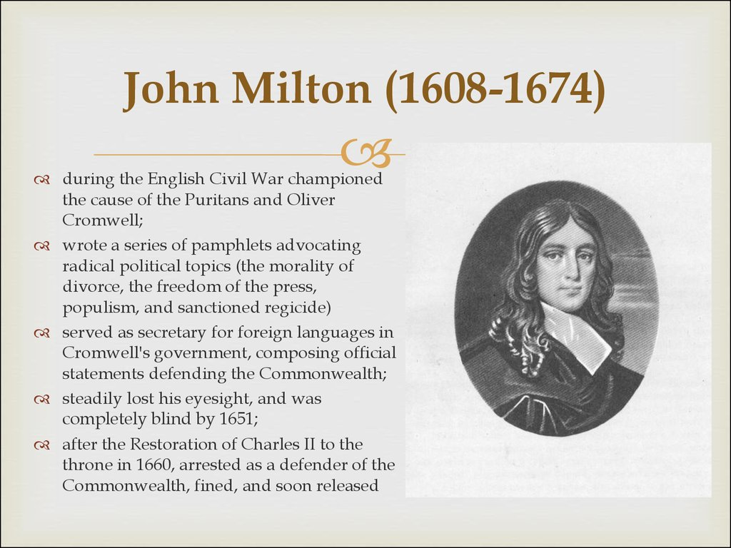biography john milton essay John milton biography john milton was a very famous english poet, historian as well as a civil servant in the british government check out this biography to know about his childhood, family life, achievements and other facts about his life.