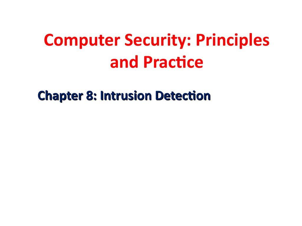 Computer Security: Principles and Practice