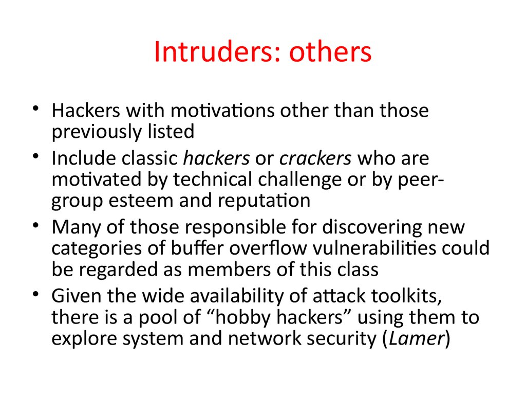 Intruders: others