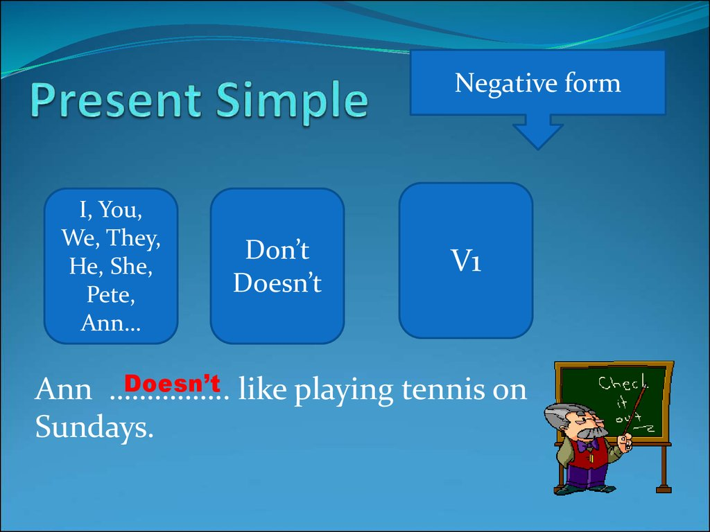 ENGLISH PAGE - Simple Present Forms
