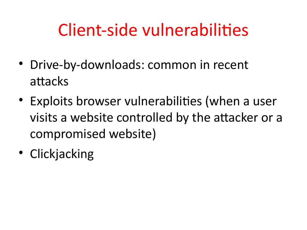 Client-side vulnerabilities