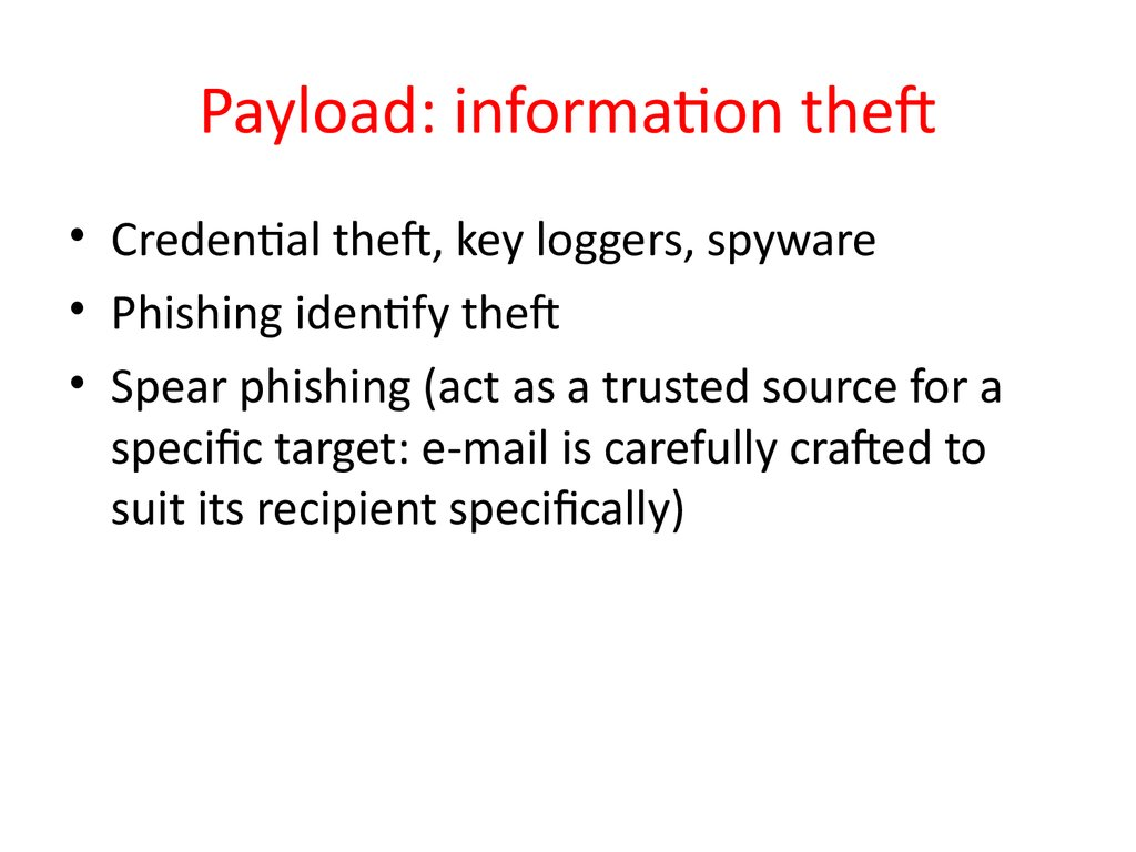 Payload: information theft