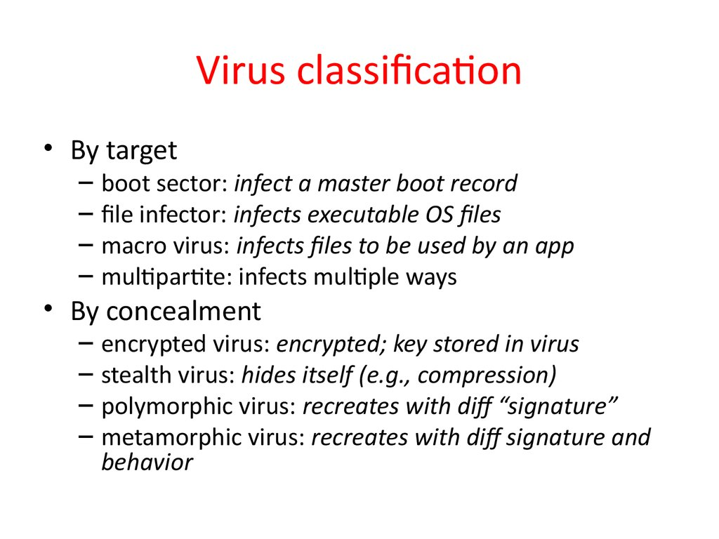 Virus classification