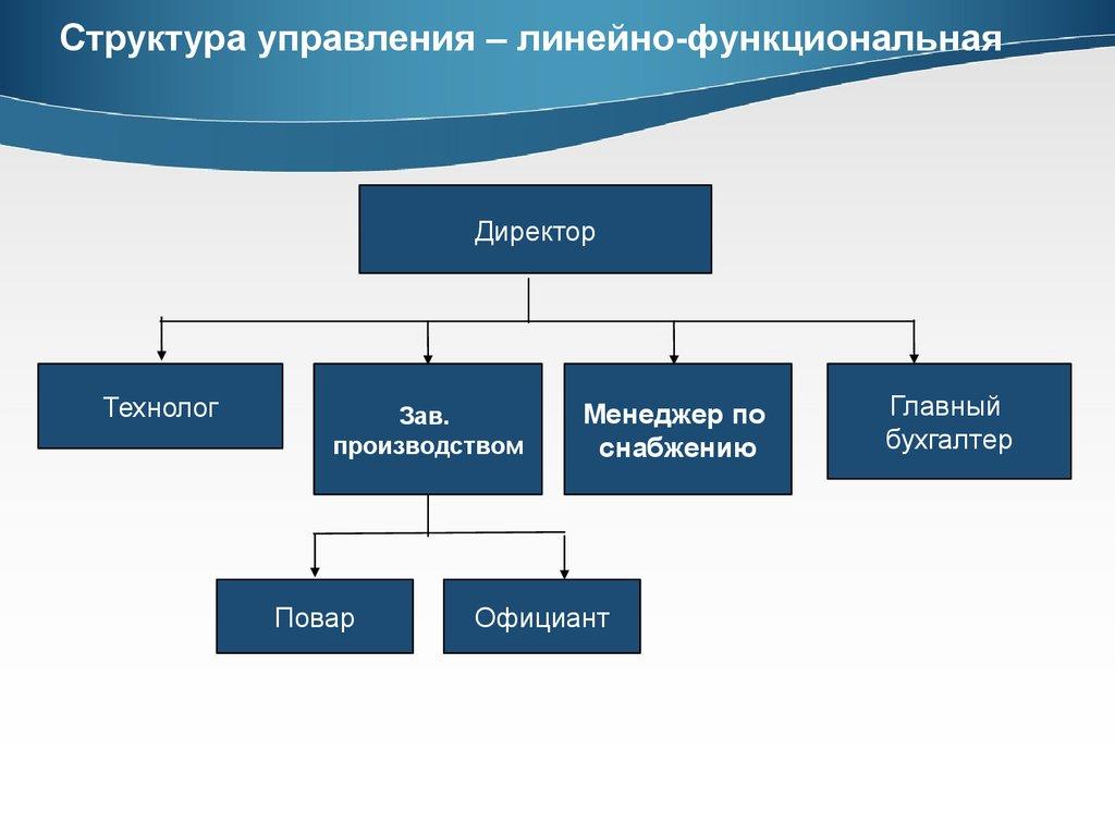 Модель линейно-функциональной структуры управления