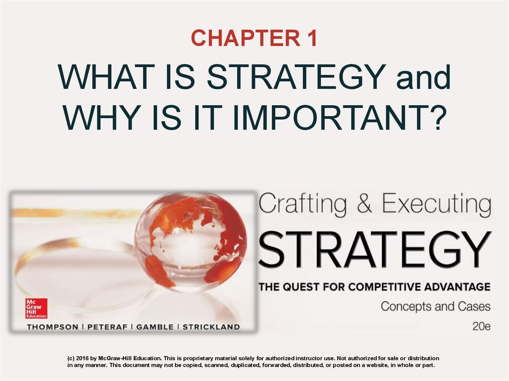 What is strategy and why is it important  (Chapter 1