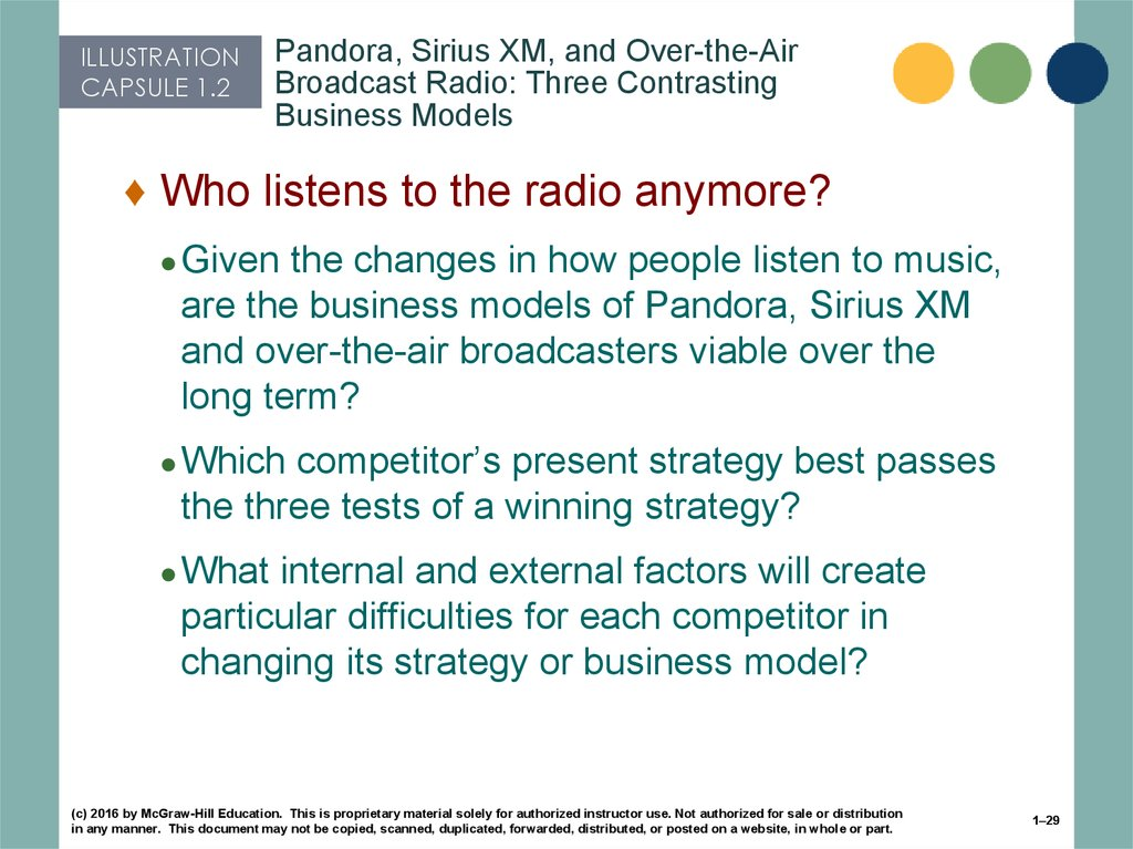 Pandora, Sirius XM, and Over-the-Air Broadcast Radio: Three Contrasting Business Models