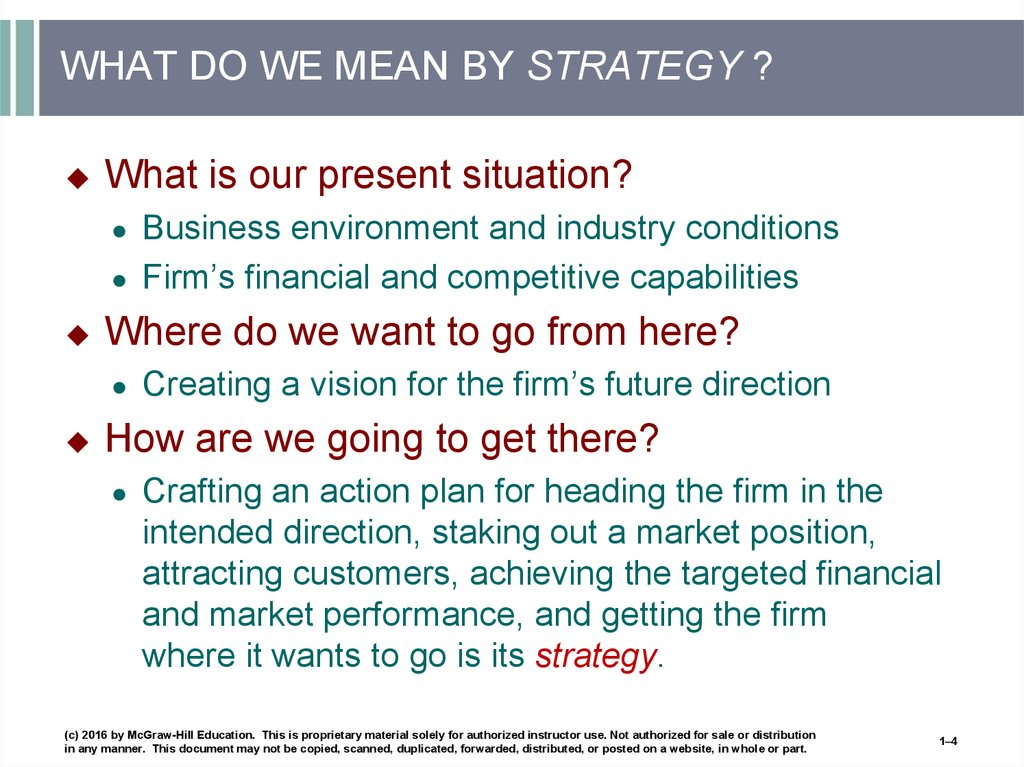 WHAT DO WE MEAN BY STRATEGY ?
