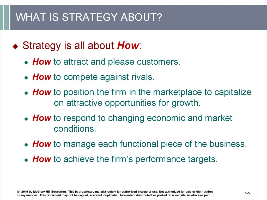 WHAT IS STRATEGY ABOUT?