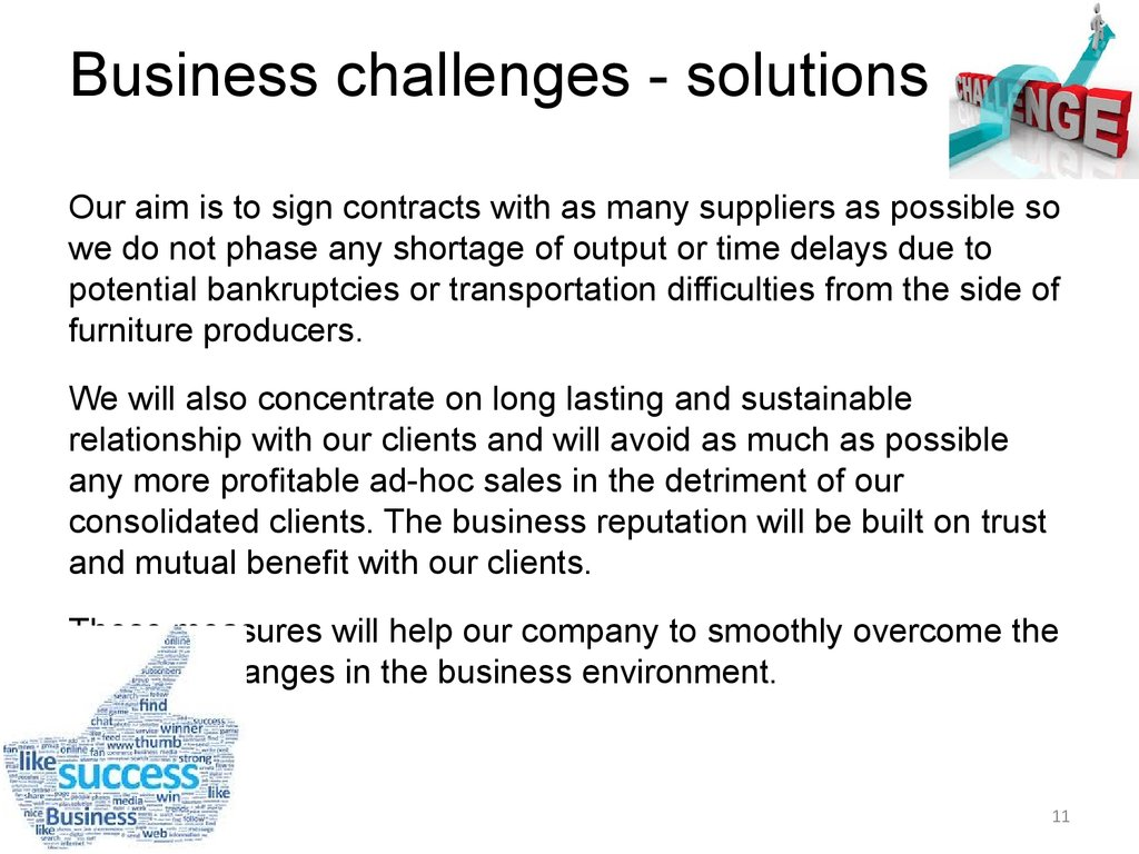 Business challenges - solutions