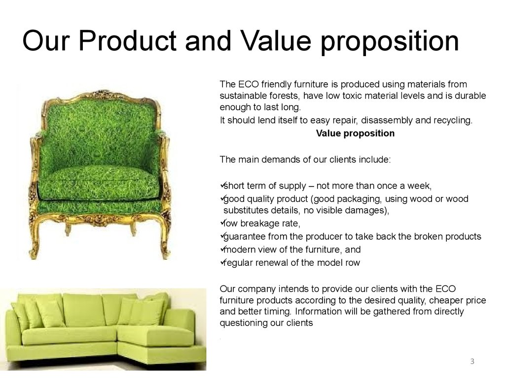 Our Product and Value proposition