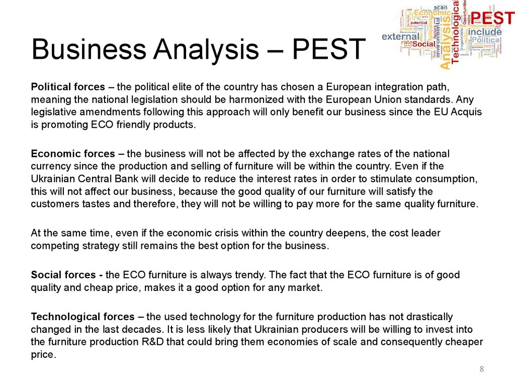 Business Analysis – PEST
