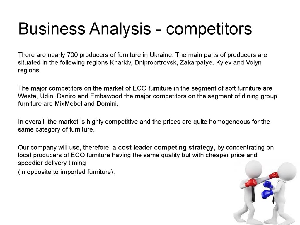 an analysis of competition Conducting a thorough competitor analysis key to increasing customer retention, and fending off similar businesses competing for the same demographic.