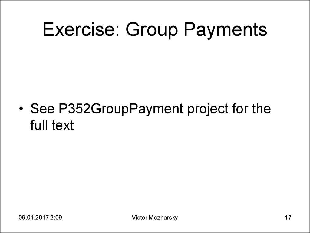 Exercise: Group Payments