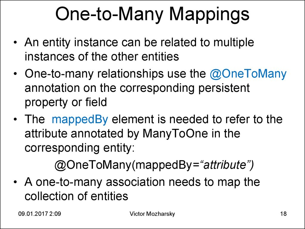 One-to-Many Mappings