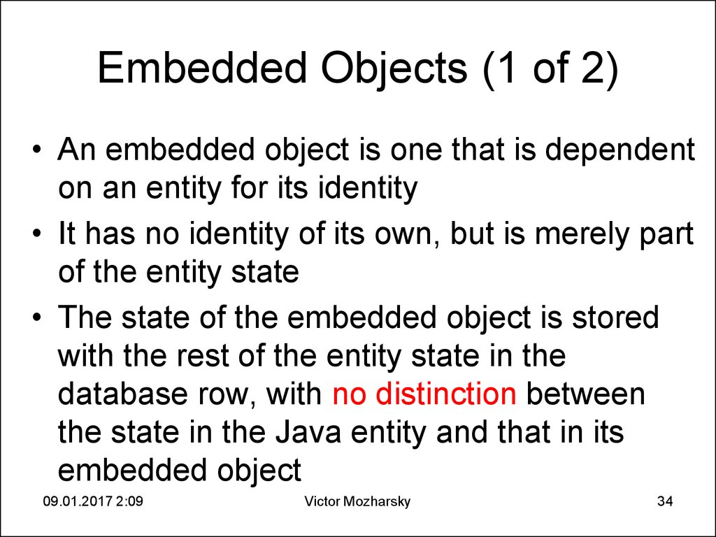 Embedded Objects (1 of 2)