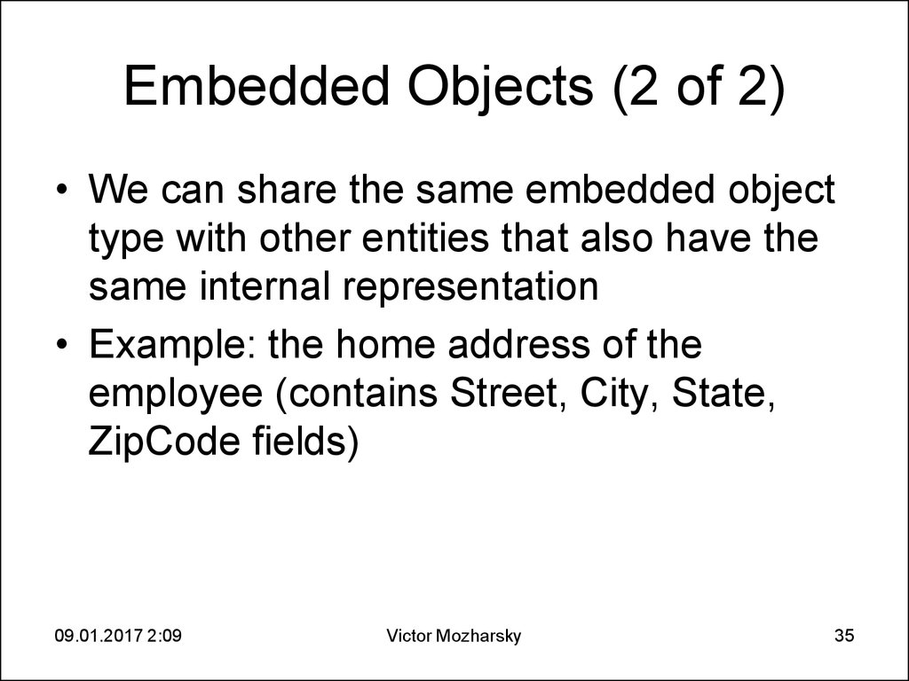 Embedded Objects (2 of 2)