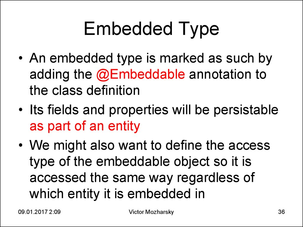 Embedded Type