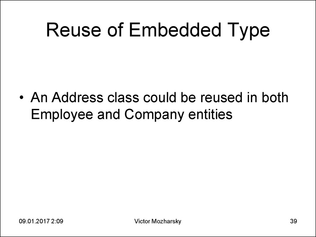 Reuse of Embedded Type