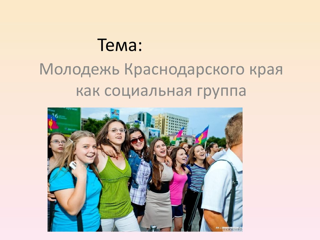 Молодежь Краснодарского края презентация онлайн Тема
