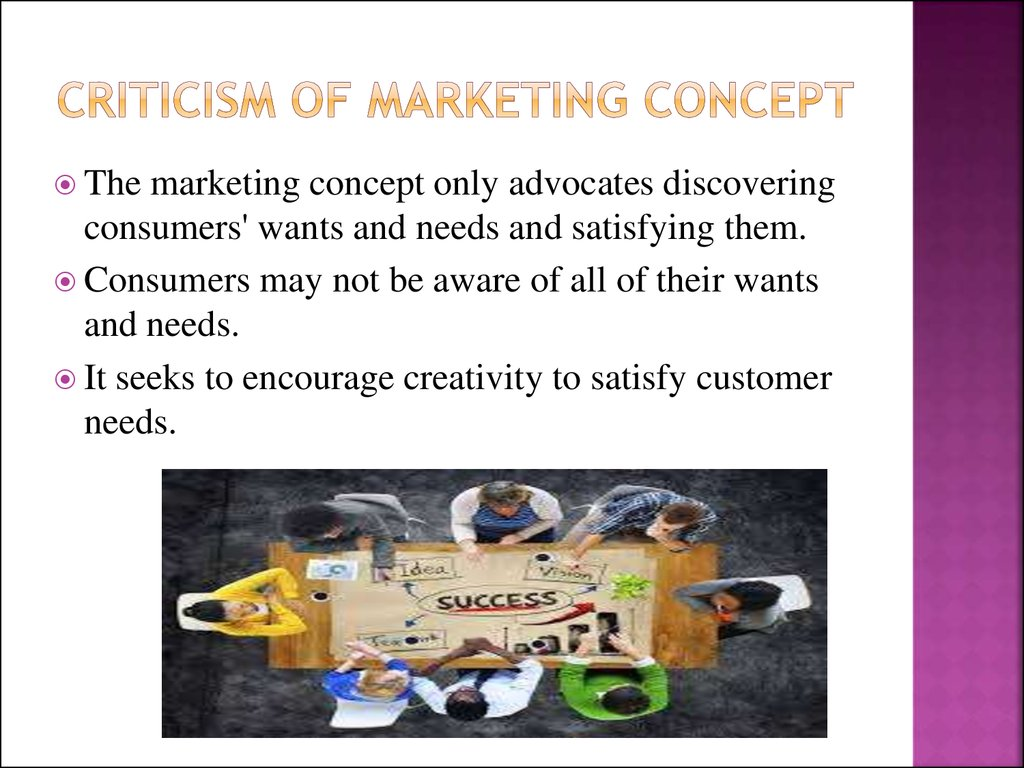 Criticism of marketing concept