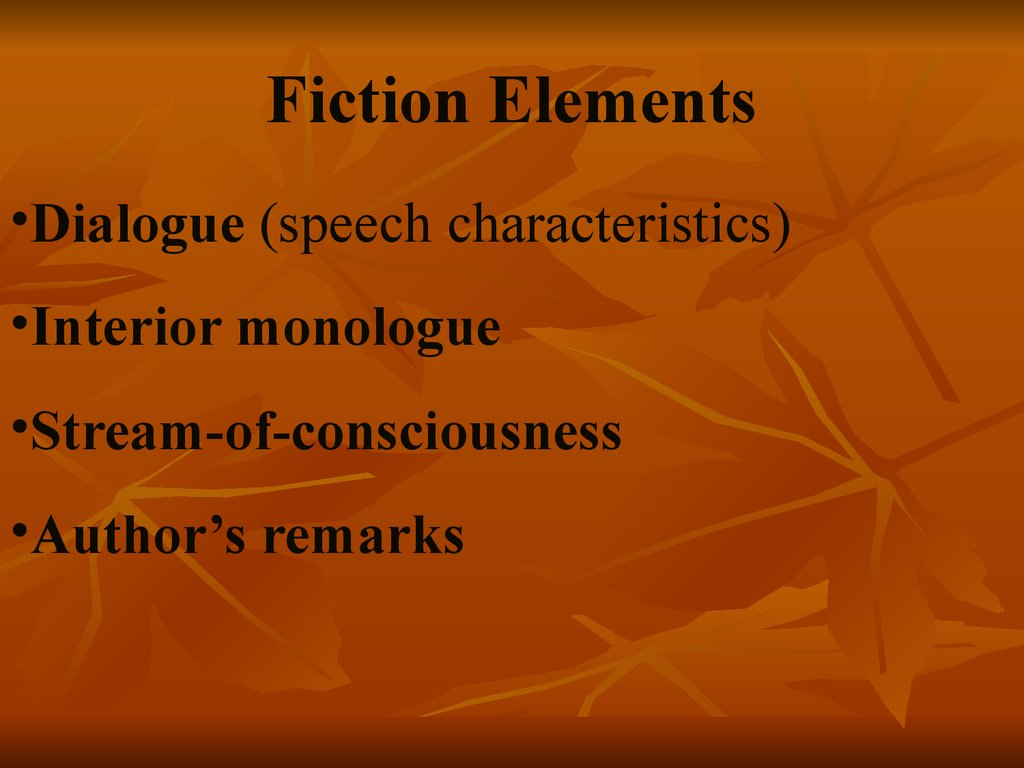 Fiction Elements