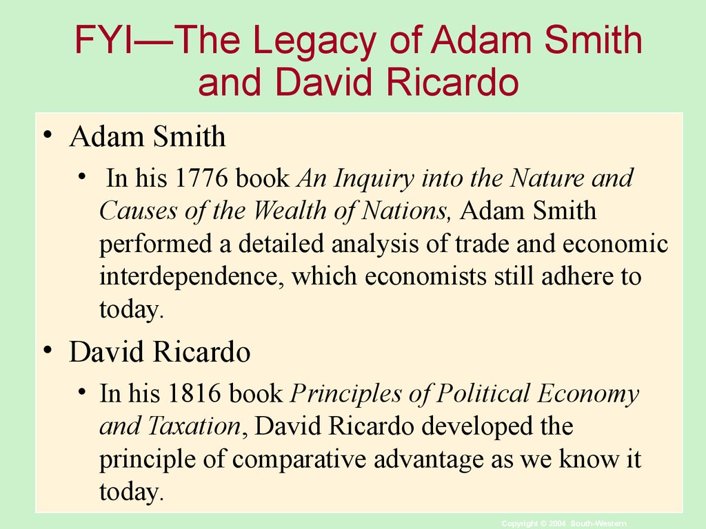 adam smith and david ricardo