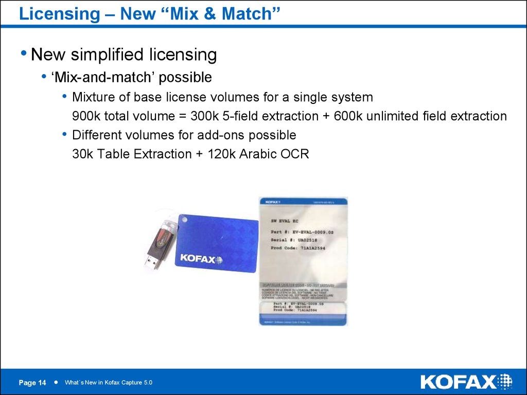 "Licensing – New ""Mix & Match"""