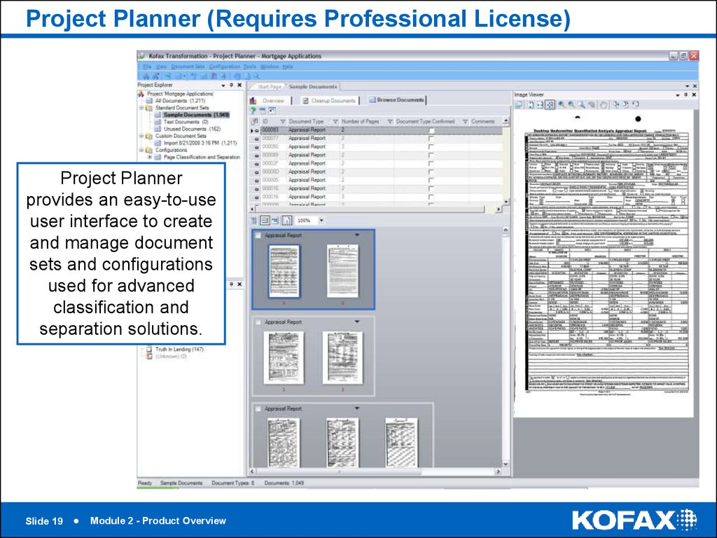 Project Planner (Requires Professional License)