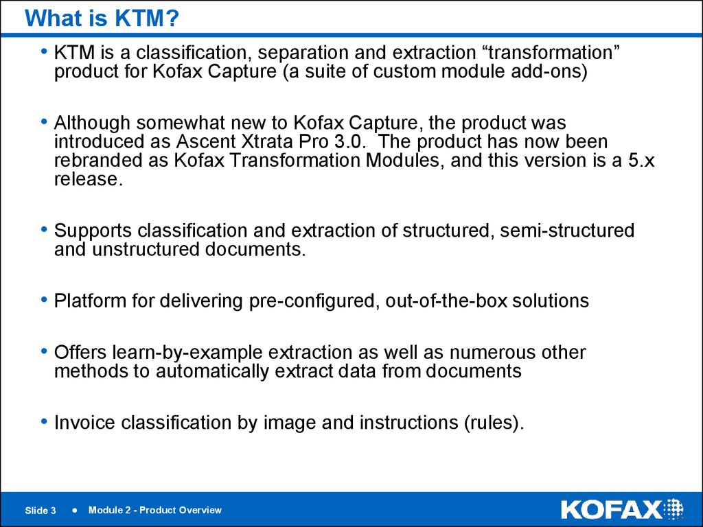 What is KTM?