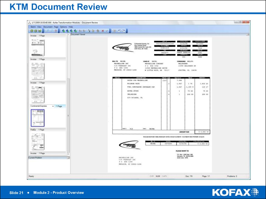 KTM Document Review