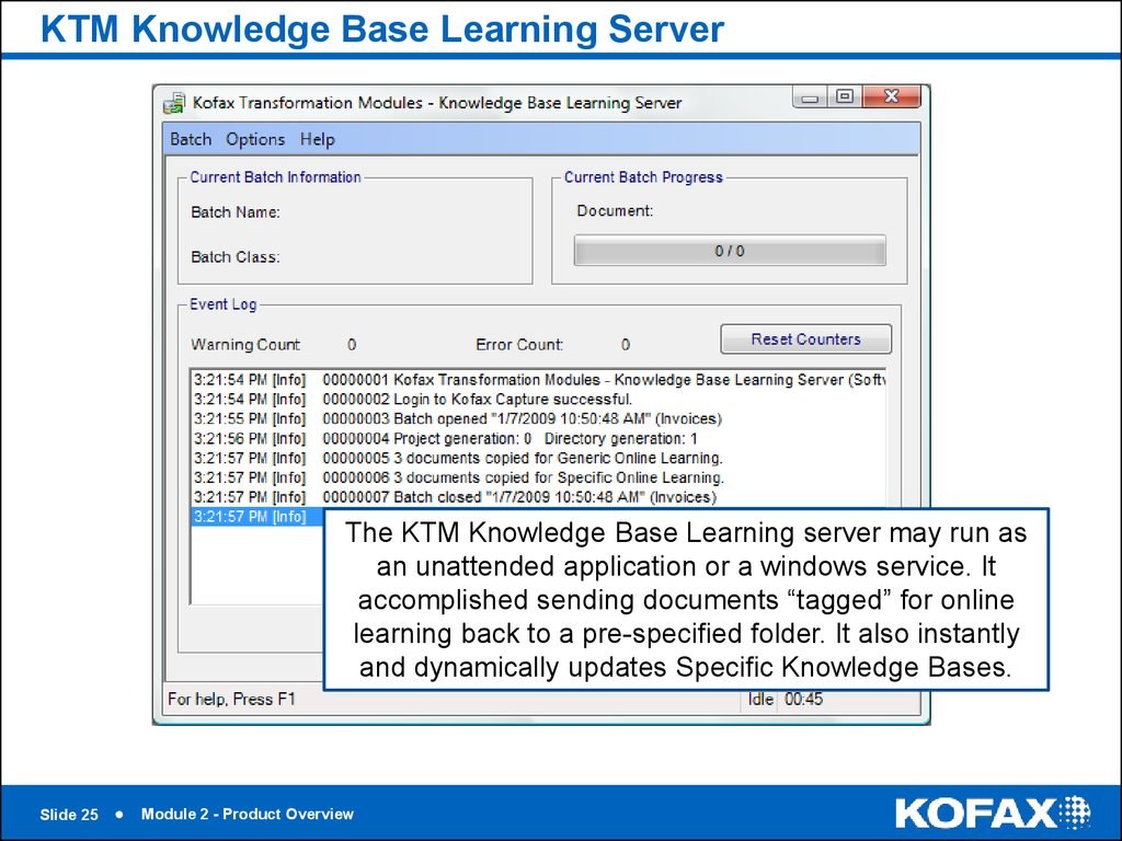 KTM Knowledge Base Learning Server