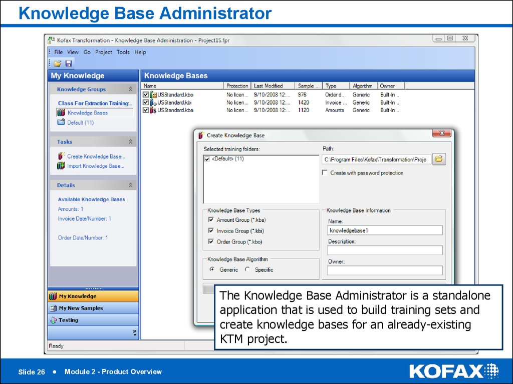 Knowledge Base Administrator
