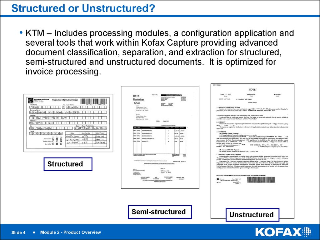 Structured or Unstructured?