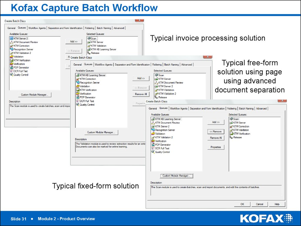 Kofax Capture Batch Workflow