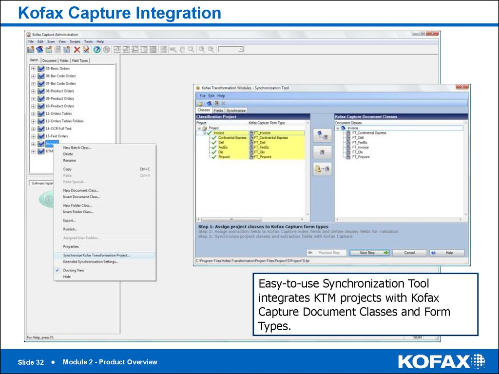 Kofax Capture Integration
